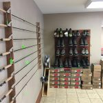 Redington and Cortland Rods, Chota and Redington boots in all sizes, male and female.